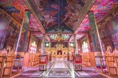 Interior da igreja dos campos dos pastores em Beit Sahour, Bethlehem - é Fotografia de Stock