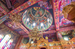 Interior da igreja dos campos dos pastores em Beit Sahour, Bethlehem - é Imagem de Stock Royalty Free