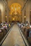 Interior da igreja em Catedral de La Habana, Plaza del Catedral, Havana velho, Cuba Fotografia de Stock