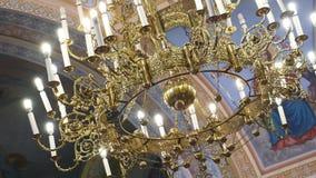 Interior da igreja em Ucrânia video estoque