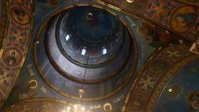 Interior da igreja ortodoxa video estoque