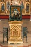 Interior da igreja ortodoxa Fotos de Stock Royalty Free