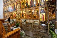 Interior da igreja ortodoxa do russo Fotografia de Stock Royalty Free