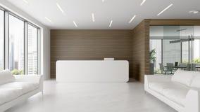 Interior da ilustração da recepção e da sala de reunião 3D Imagem de Stock Royalty Free