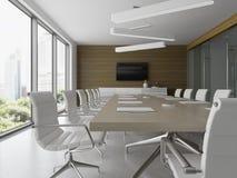 Interior da ilustração da recepção e da sala de reunião 3D Fotografia de Stock Royalty Free