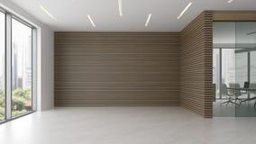 Interior da ilustração da recepção e da sala de reunião 3D Fotos de Stock