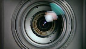 Interior da lente - zumbindo vídeos de arquivo