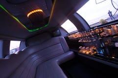 Interior da limusina imagens de stock