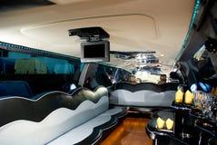 Interior da limusina moderna fotografia de stock