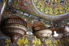 Interior da mesquita de Alaca - Kalkandelen Macedônia Imagem de Stock Royalty Free
