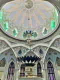 Interior da mesquita de Kul-Sharif imagem de stock