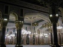 Interior da mesquita de Saleh, Sanaa, Iémen imagens de stock