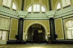 Interior da mesquita de Ubudiah em Kuala Kangsar, Perak, Malásia Imagem de Stock Royalty Free