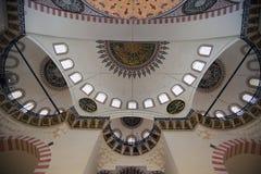 Interior da mesquita em Istambul Fotografia de Stock Royalty Free