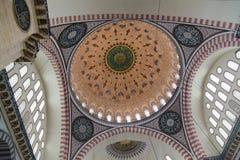 Interior da mesquita em Istambul Imagem de Stock