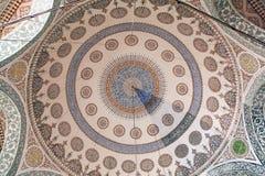 Interior da mesquita em Istambul Imagem de Stock Royalty Free