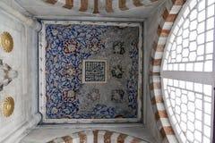Interior da mesquita em Istambul Foto de Stock Royalty Free