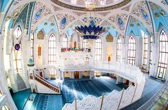 Interior da mesquita famosa de Kul Sharif Foto de Stock Royalty Free