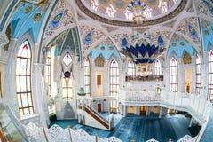 Interior da mesquita famosa de Kul Sharif Imagem de Stock Royalty Free