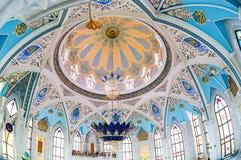 Interior da mesquita famosa de Kul Sharif Fotografia de Stock Royalty Free