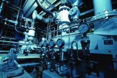 Interior da planta do tratamento da água Imagens de Stock