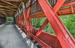 Interior da ponte coberta de Scipio Fotos de Stock Royalty Free