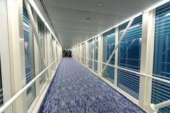 Interior da ponte do embarque Fotos de Stock
