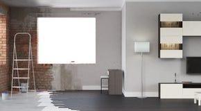 Interior da renovação 3d rendem Foto de Stock Royalty Free
