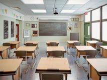 Interior da sala de aula da escola Imagem de Stock Royalty Free
