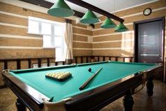 Interior da sala de bilhar Imagens de Stock Royalty Free