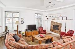 Interior da sala de estar do estilo do deco da arte moderna Foto de Stock