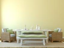 Interior da sala de jantar. ilustração stock