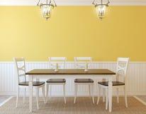 Interior da sala de jantar Foto de Stock Royalty Free