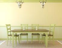 Interior da sala de jantar Imagem de Stock Royalty Free