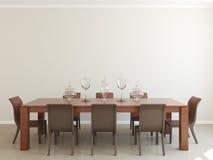 Interior da sala de jantar ilustração royalty free