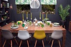 Interior da sala de jantar Imagens de Stock Royalty Free