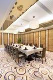 Interior da sala de jantar do hotel Fotografia de Stock Royalty Free