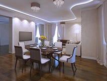 Interior da sala de jantar moderna Foto de Stock