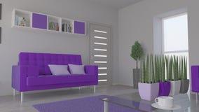 Interior da sala de visitas Imagem de Stock Royalty Free