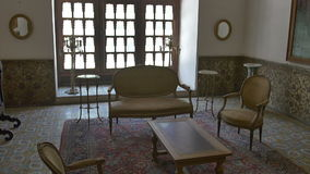 Interior da sala do palácio de Golestan vídeos de arquivo