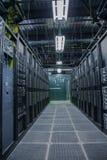Interior da sala do servidor do computador Fotos de Stock Royalty Free