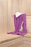Interior da sauna Fotos de Stock