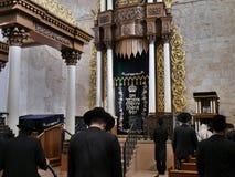 Interior da sinagoga Fotos de Stock Royalty Free