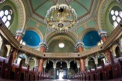 Interior da sinagoga Fotos de Stock