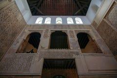 Interior da sinagoga em Córdova, a Andaluzia, Espanha fotografia de stock