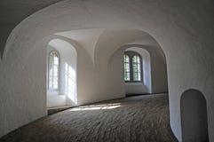 Interior da torre redonda em Copenhaga, Dinamarca Imagens de Stock Royalty Free