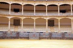 Interior da tourada-arena em Ronda, Espanha Imagens de Stock