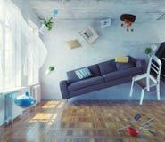 interior da Zero-gravidade Imagens de Stock