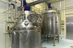 Tank for fermentation Stock Photo