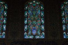 Interior das janelas no palácio de Topkapi em Istambul Foto de Stock Royalty Free